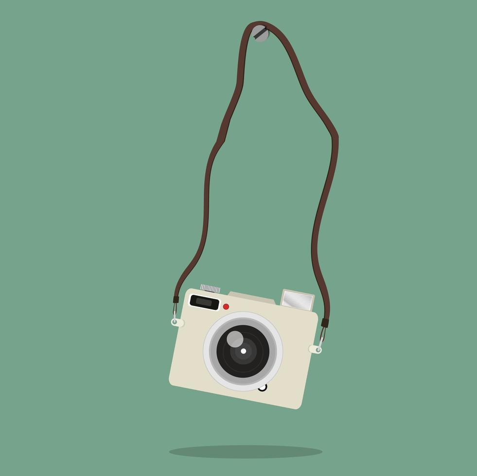 câmera pendurada no parafuso vetor