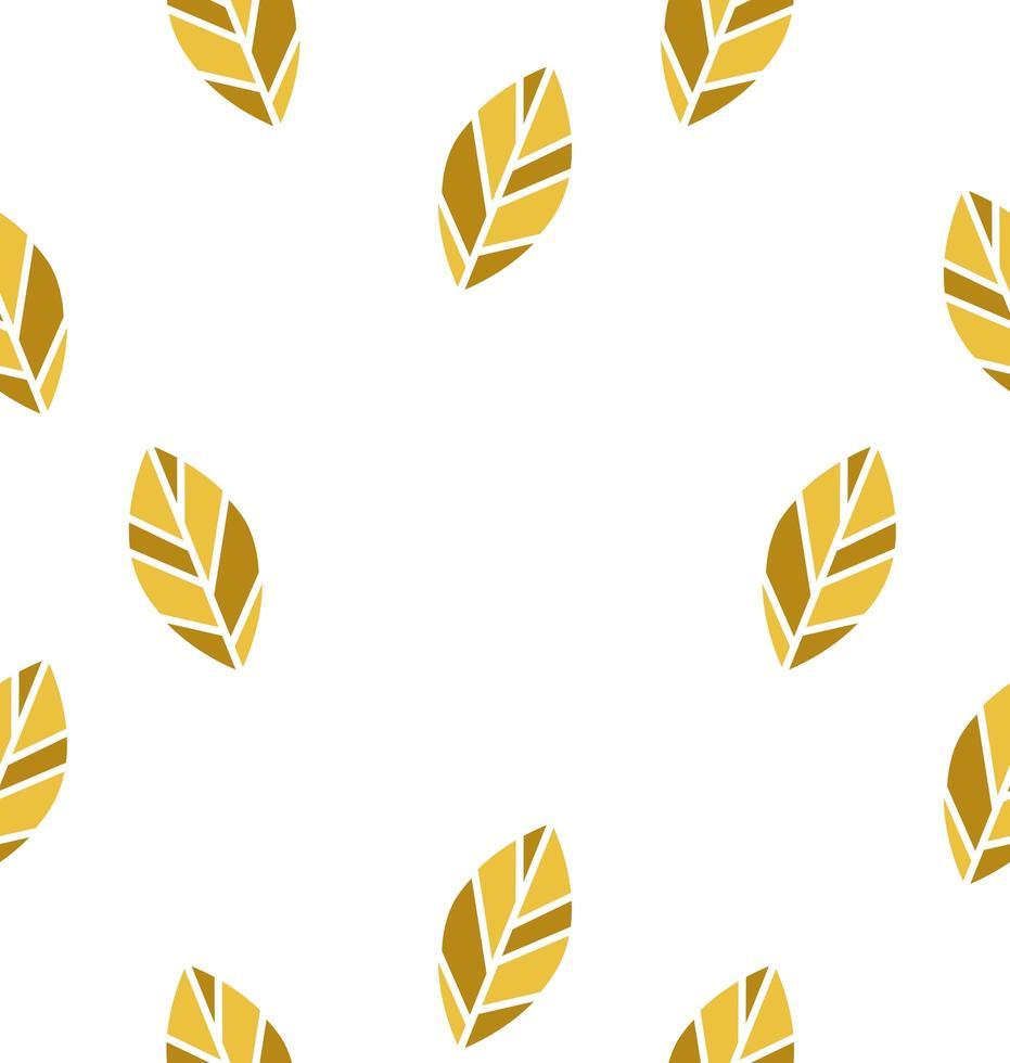 padrão sem emenda de folha amarela vetor