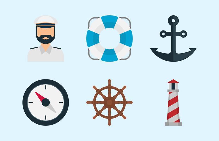 Ícones do mar vetor