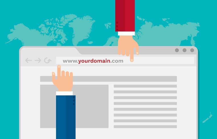 Obter o melhor site de domínio para aumentar sua ilustração vetorial de negócios vetor