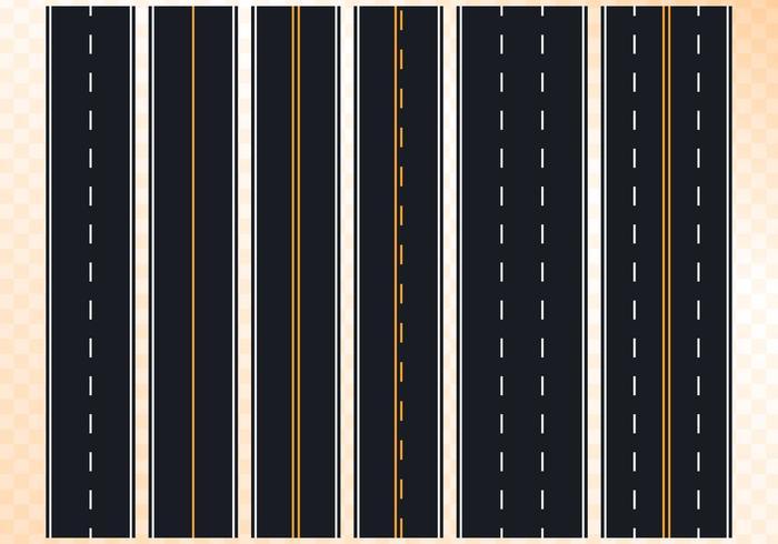 Marca de estrada sem costura em fundo isolado vetor
