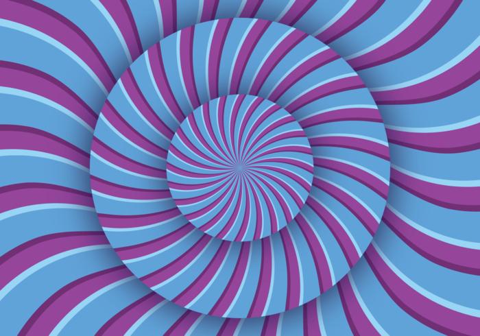 Ilusão óptica da hipnose vetor