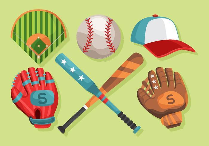 pacote de softball luva para vetores