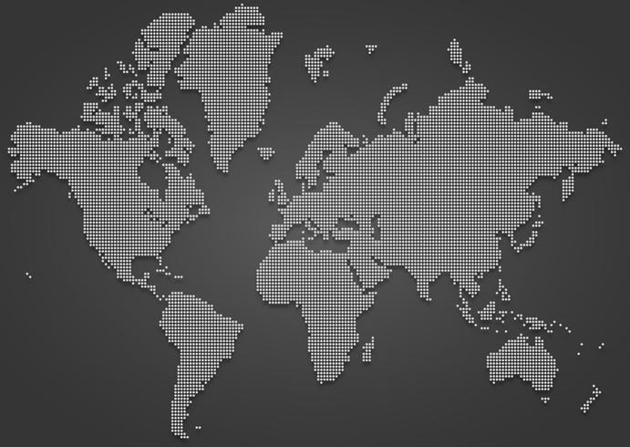 Mapa Dotted World World Global vetor