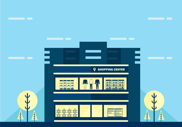 Flat Shopping Center Vector