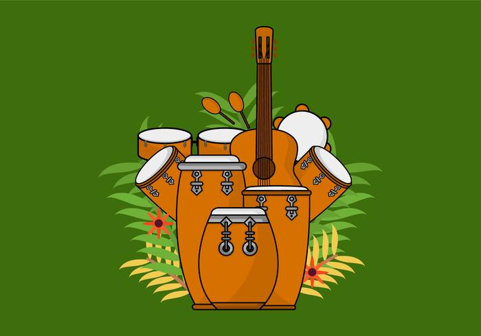 Conga Acoustic Drum vetor