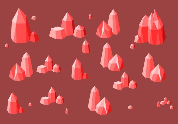 vetor livre de quartzo vermelho