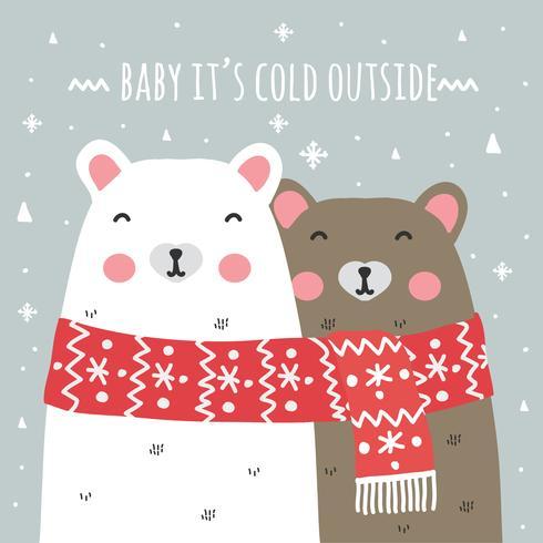 Baby é frio fora do fundo vetor