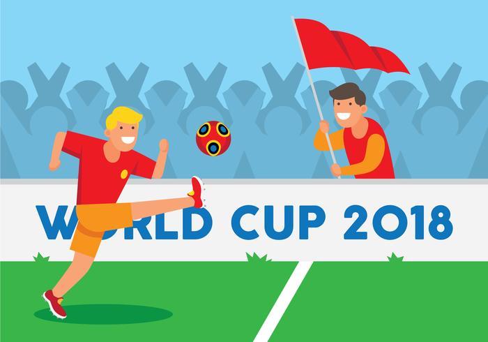 Ilustração da Copa do Mundo de Futebol vetor