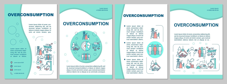 modelo de folheto de consumo excessivo. vetor