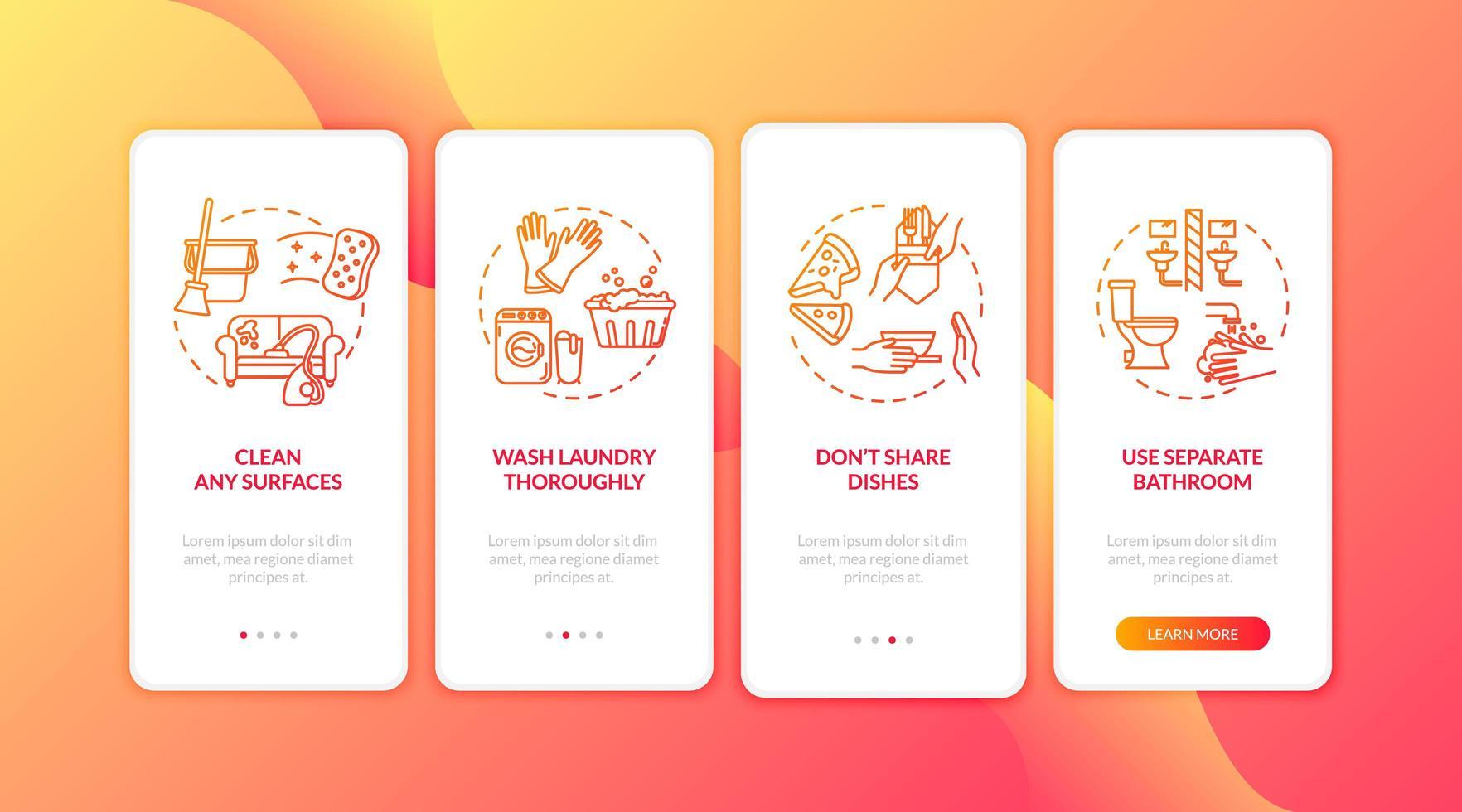 aplicativo móvel de integração de tarefas domésticas em quarentena vetor