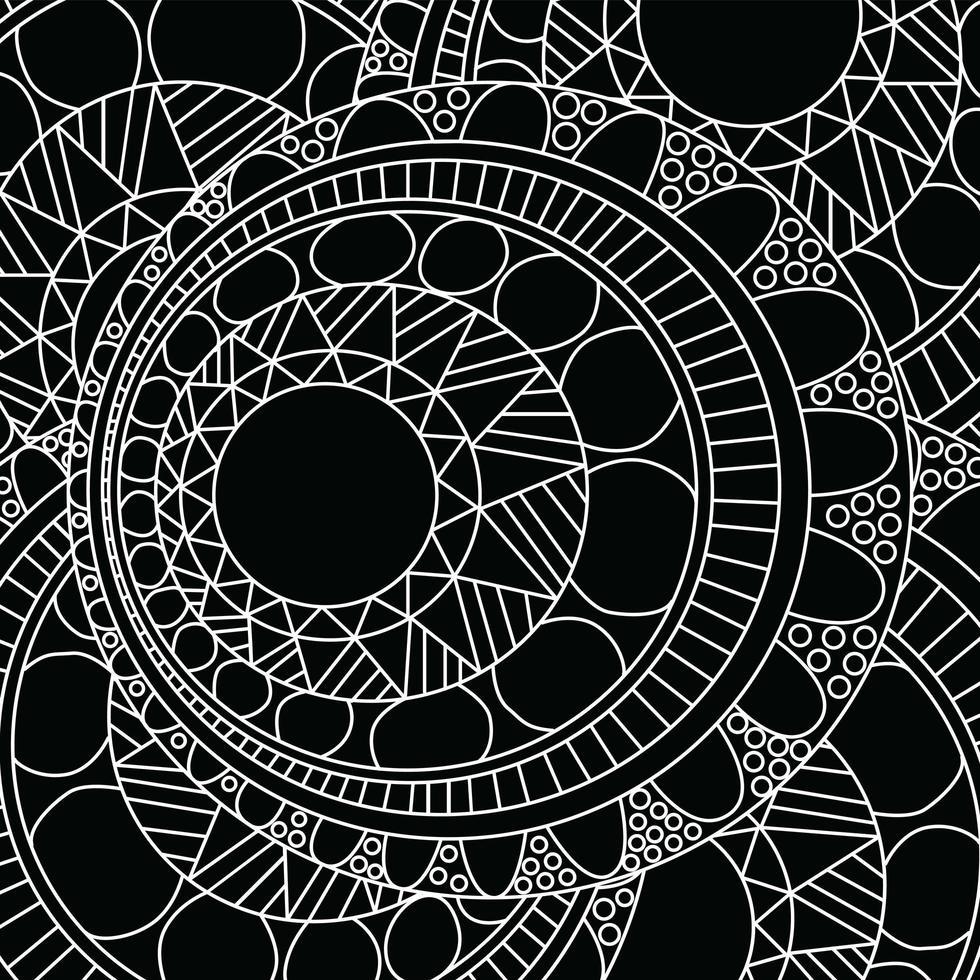 padrão de mandala zentangle vetor