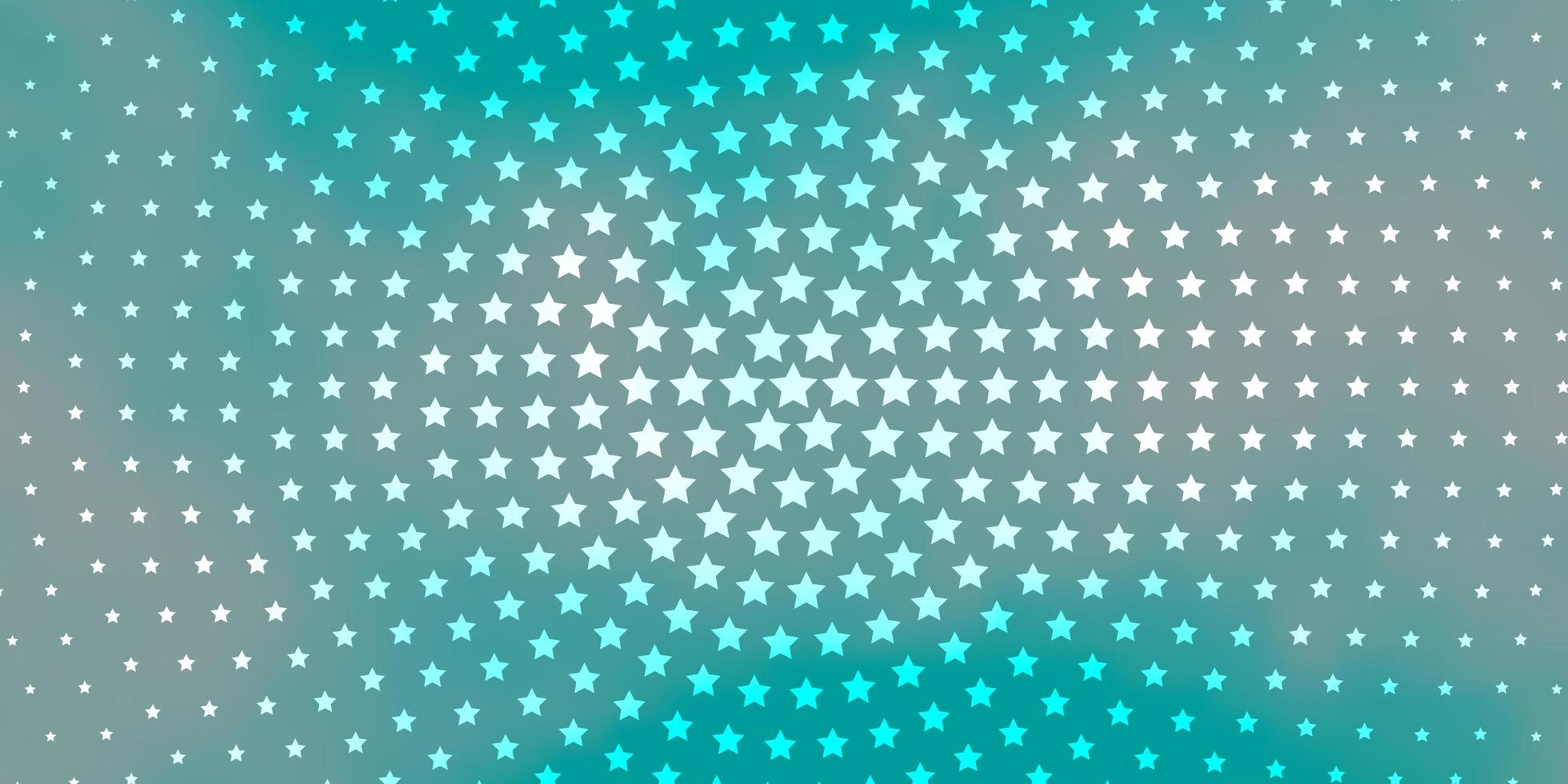 fundo azul com estrelas coloridas. vetor