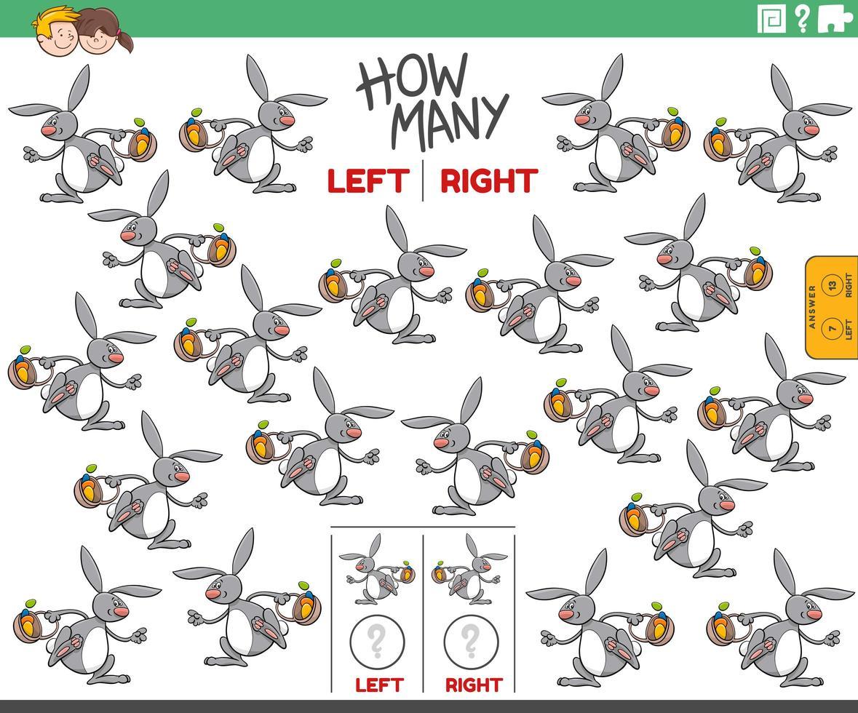contando fotos à esquerda e à direita do coelhinho da Páscoa vetor