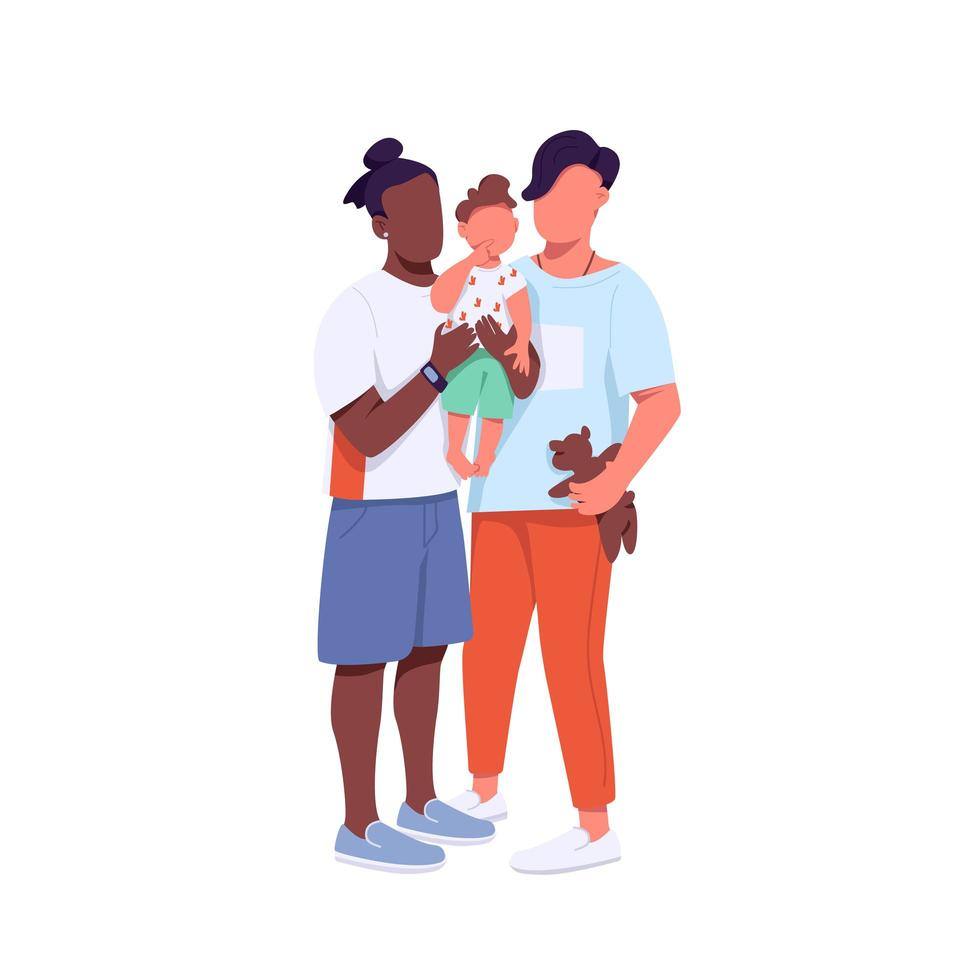família de raça mista vetor