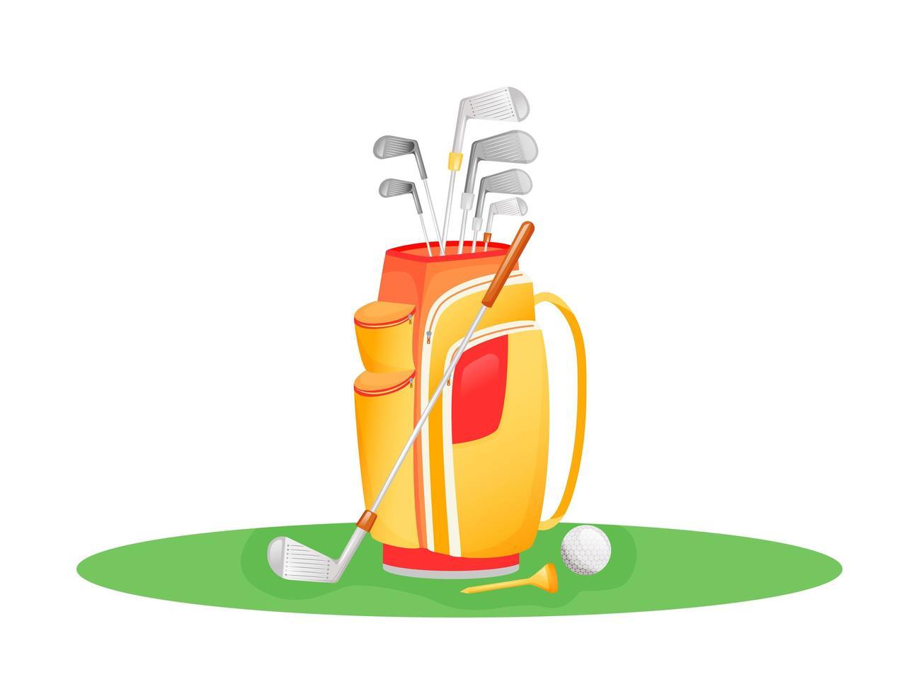 conjunto de tacos de golfe vetor