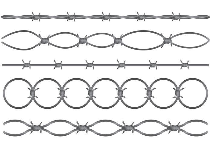 Conjunto de vetores de fio de lâmina