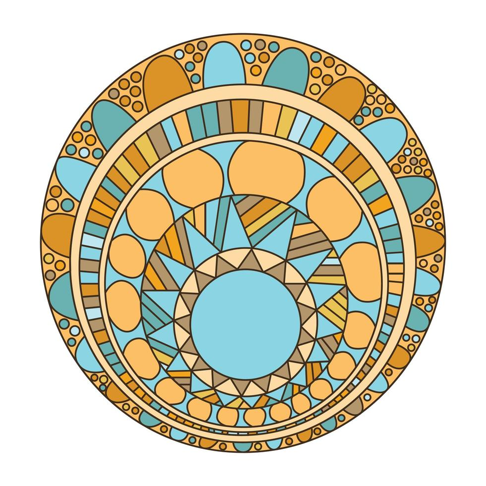 mandala zentangle para livro de colorir vetor