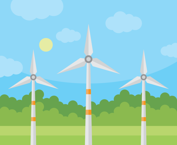 Vento Turbina Eólica vetor