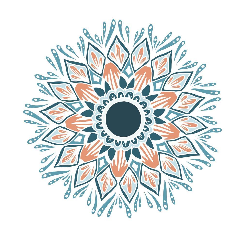 mandala de flores para cartões, gravuras e livros para colorir vetor