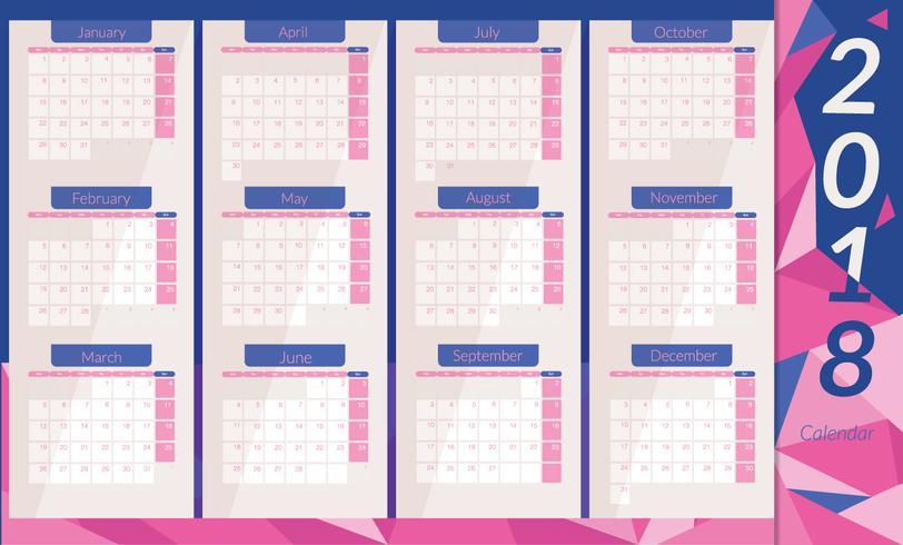 Calendário de calendário de impressão vetor