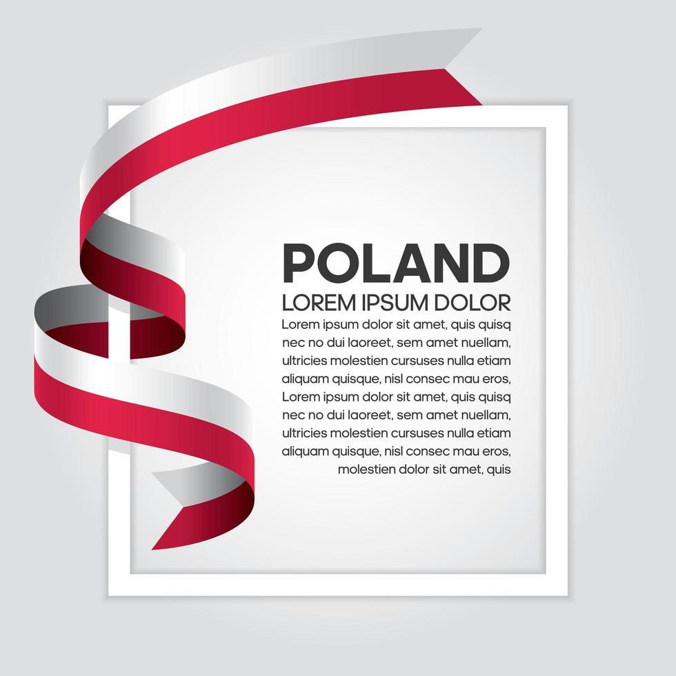 fita bandeira onda abstrata polônia vetor