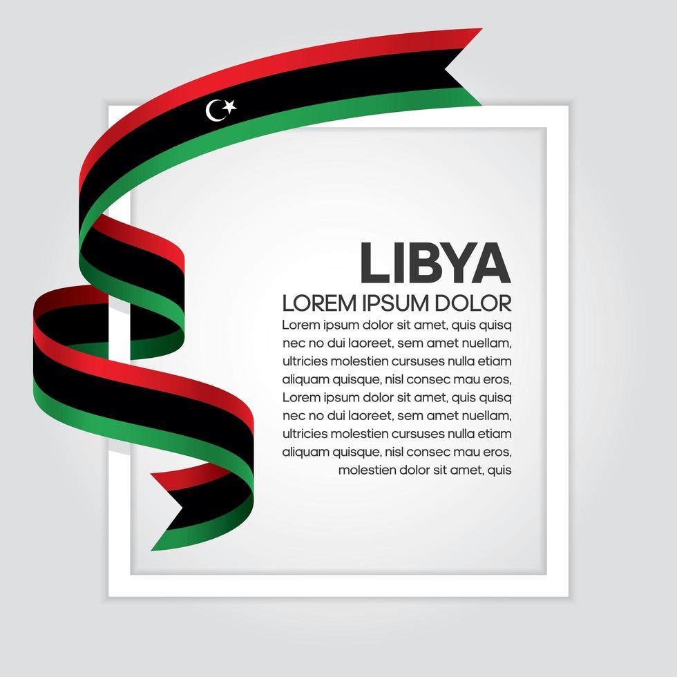 fita da bandeira da onda abstrata da líbia vetor
