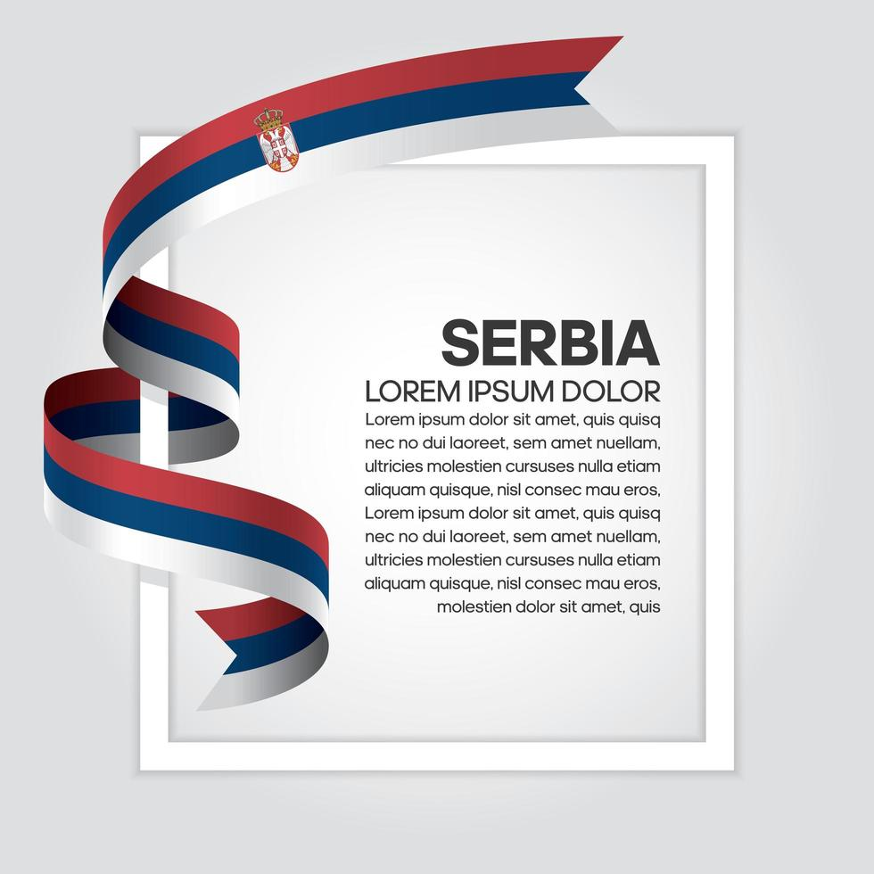 fita da bandeira da onda abstrata da sérvia vetor