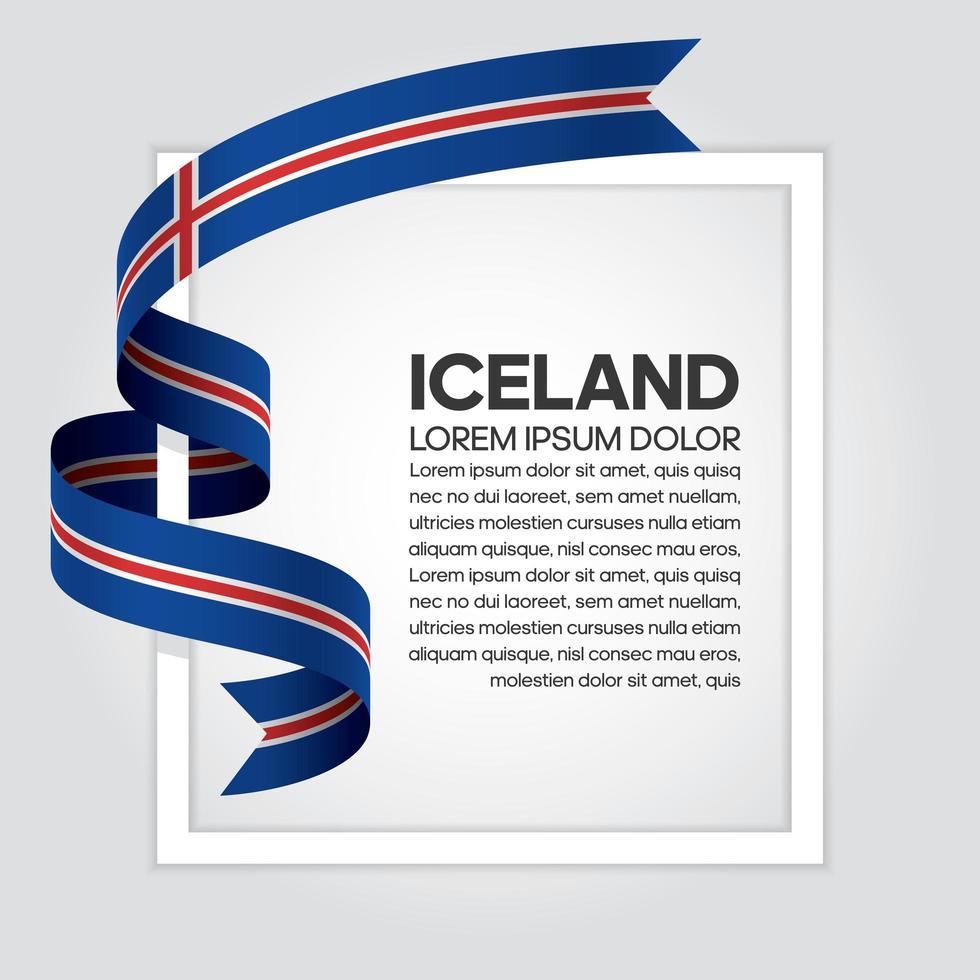 fita bandeira onda abstrata da islândia vetor