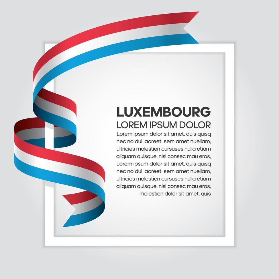 fita bandeira onda abstrata luxemburgo vetor
