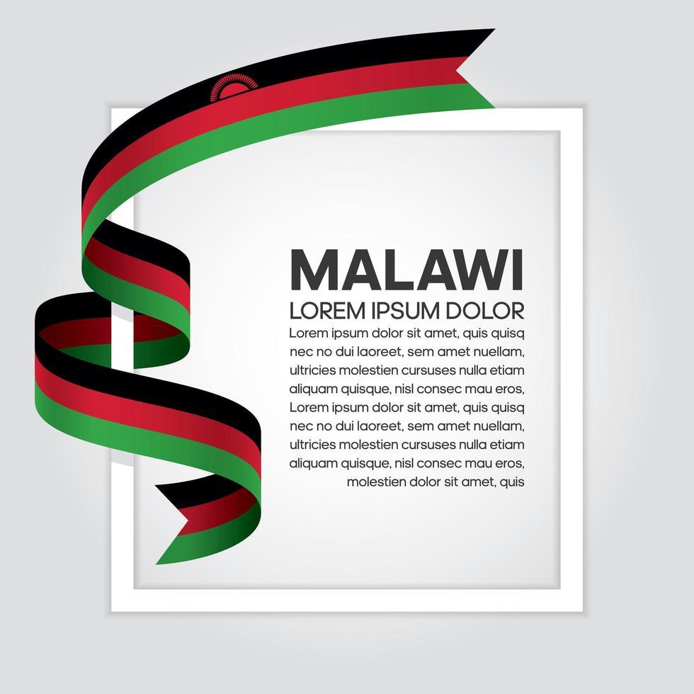 Fita da bandeira da onda abstrata malawi vetor