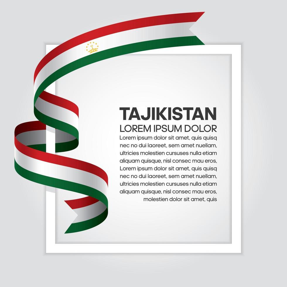 Fita da bandeira da onda abstrata do tajiquistão vetor
