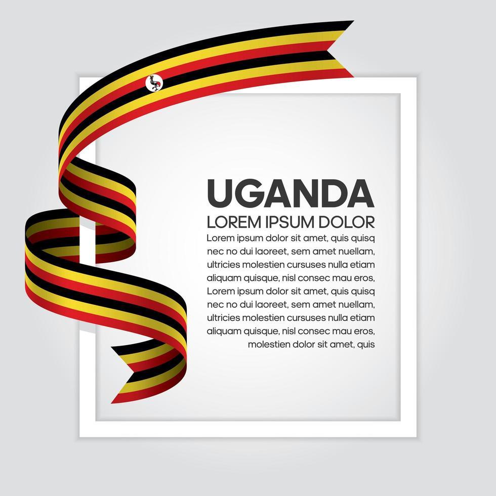 fita bandeira onda abstrata uganda vetor