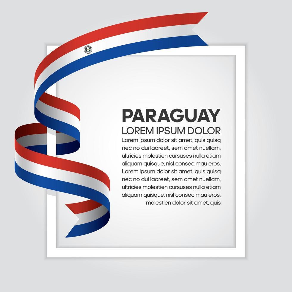 Bandeira da onda abstrata do paraguai fita vetor