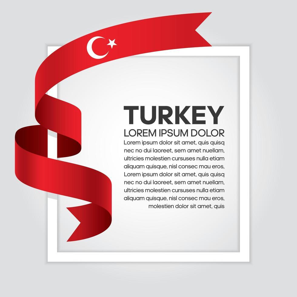 fita da bandeira da onda abstrata da Turquia vetor