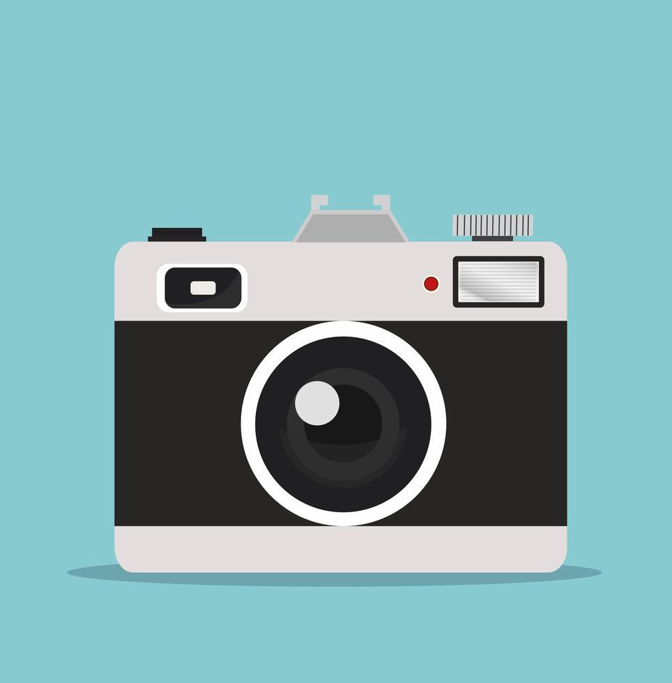 câmera fotográfica retro vetor