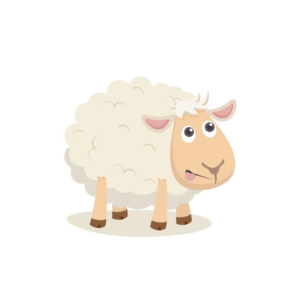 ovelha feliz fofa vetor