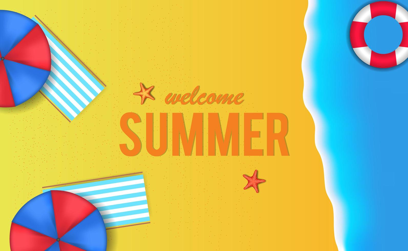 olá feriado de verão vetor