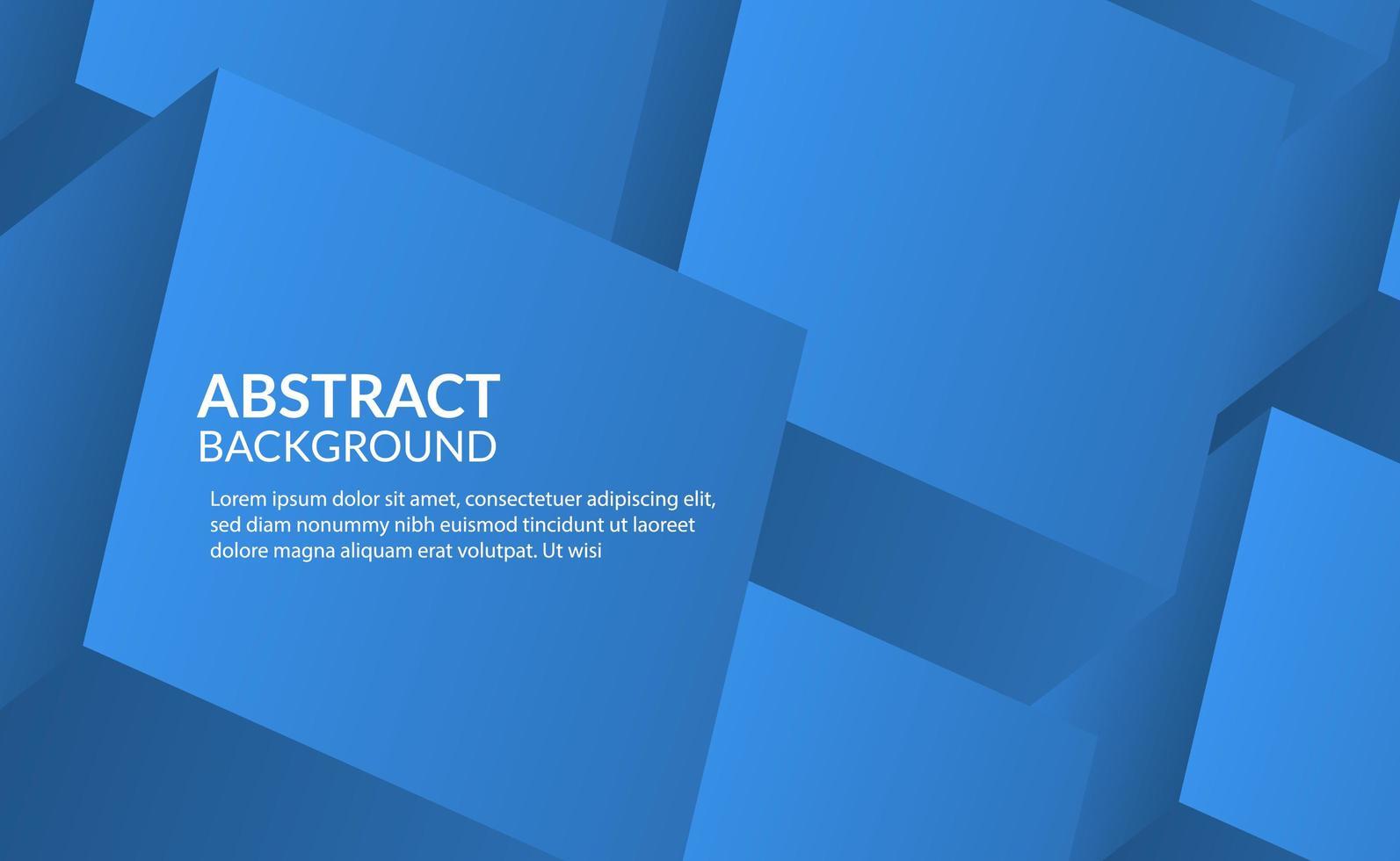 3d cubo azul abstrato vetor