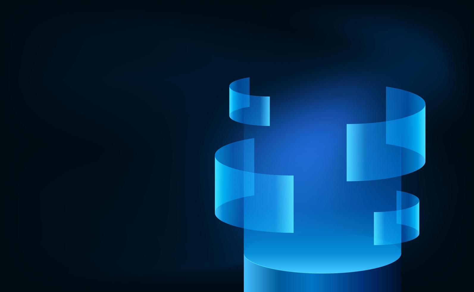 tecnologia futurista de néon azul com tela colorida ciano vetor