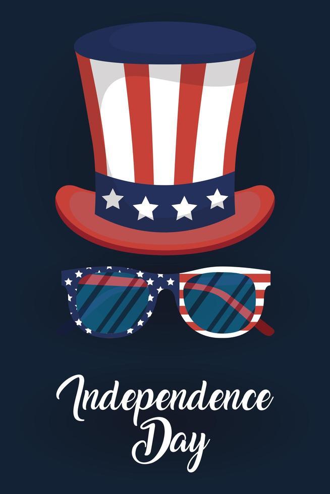 banner de celebração do dia da independência dos eua vetor