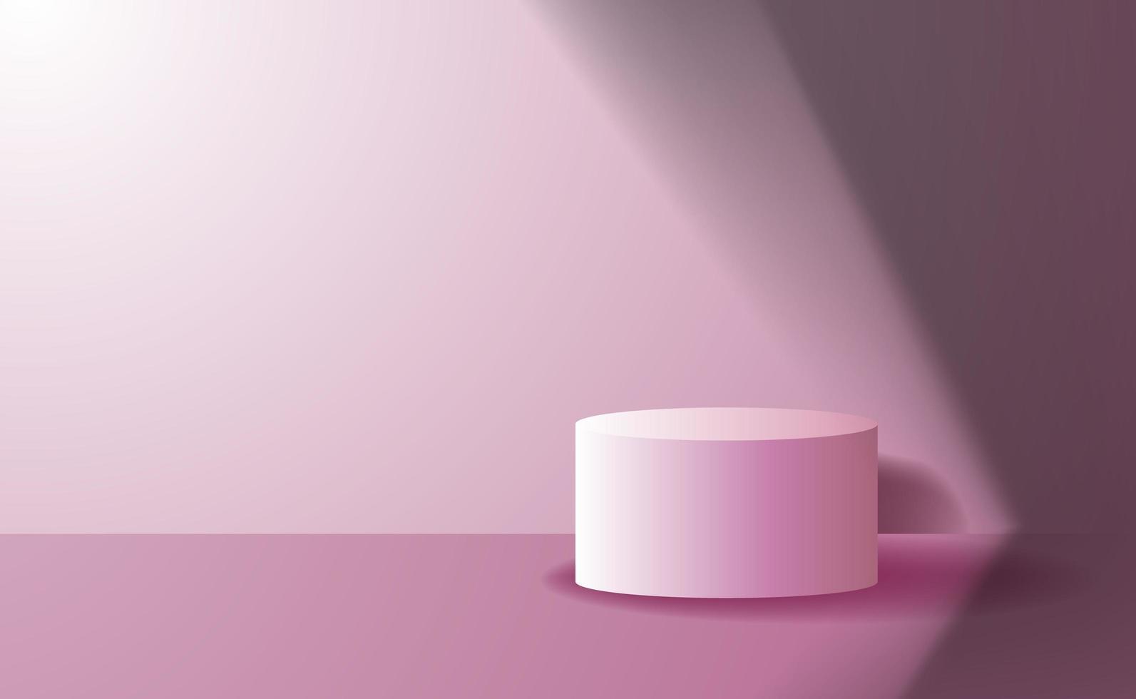 display de produto para palco de pódio em cilindro elegante vetor