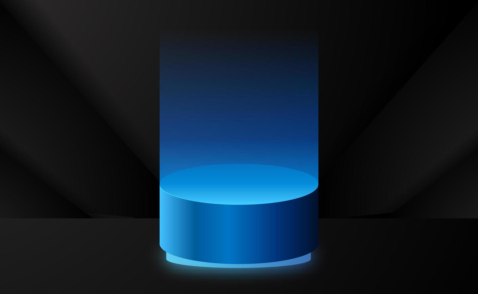 elegante exposição de produtos para palco com pedestal vetor