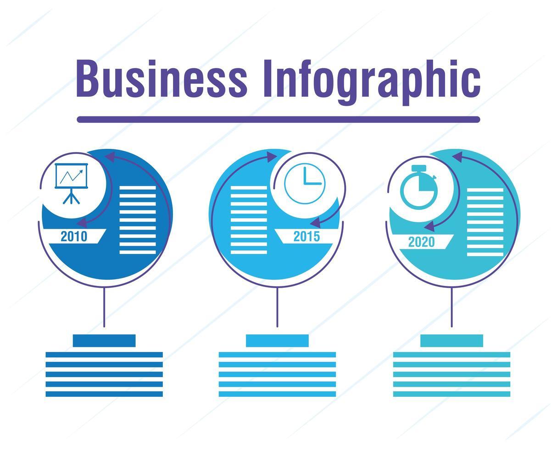 banner infográfico de negócios e corporativos vetor