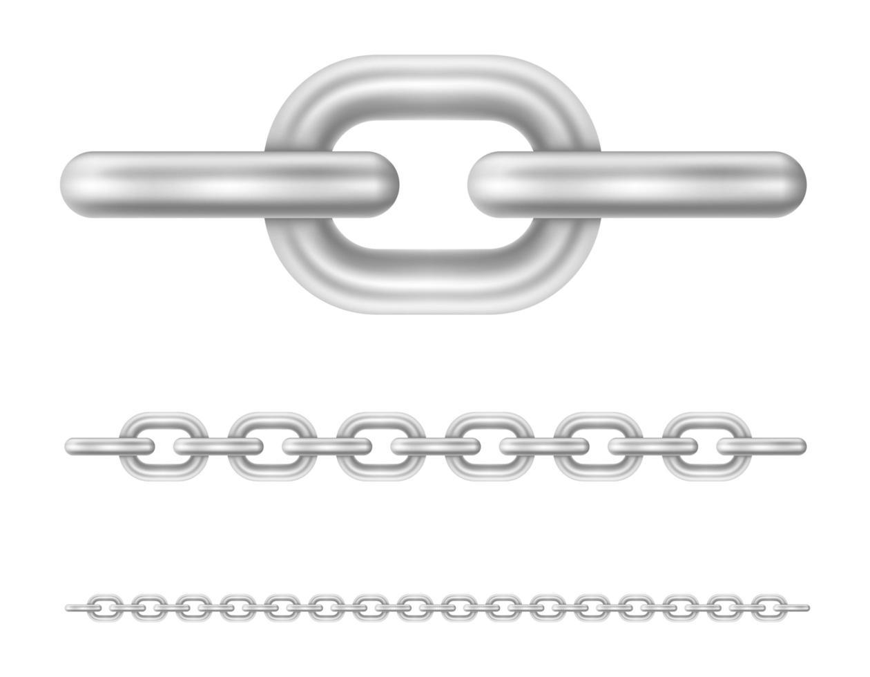 conjunto de elos de corrente de metal vetor