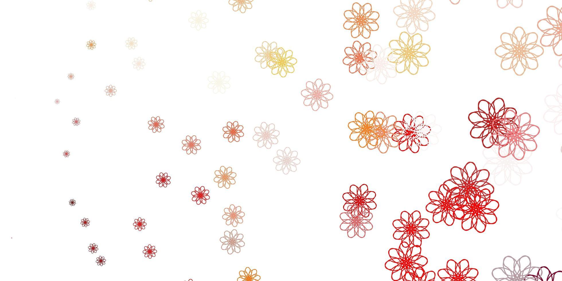 layout natural vermelho com flores. vetor
