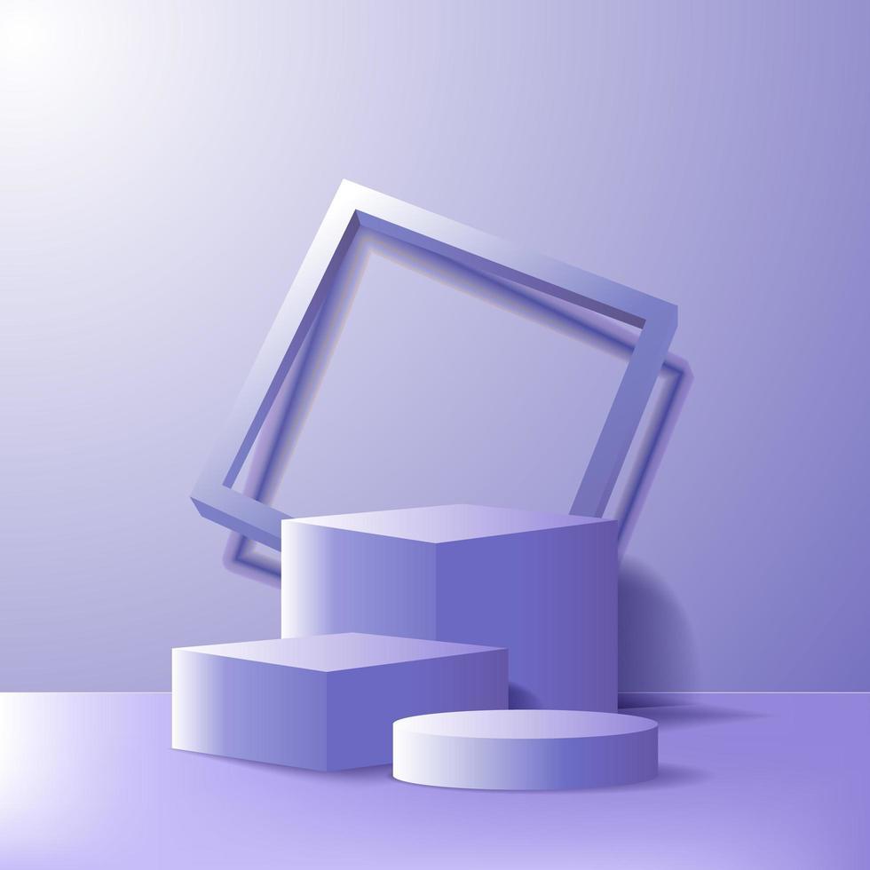 minimalismo moderno vazio palco de pódio para exposição de produtos vetor