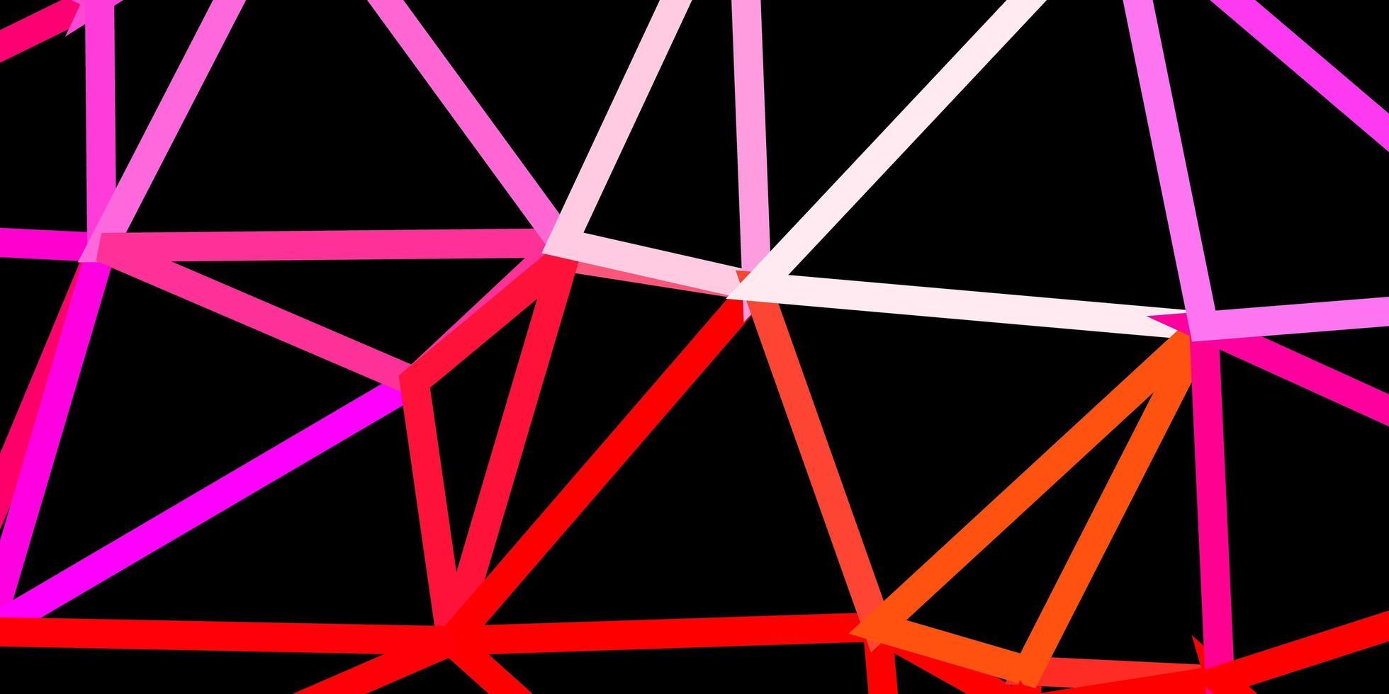 pano de fundo do triângulo abstrato vermelho claro. vetor