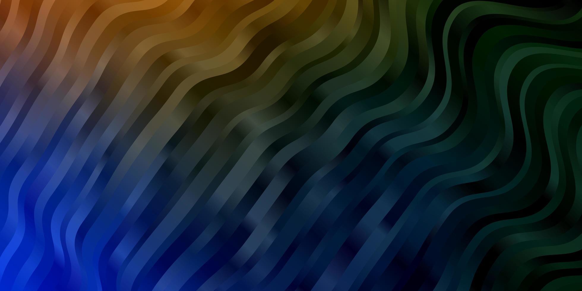 modelo azul, amarelo com linhas irônicas. vetor