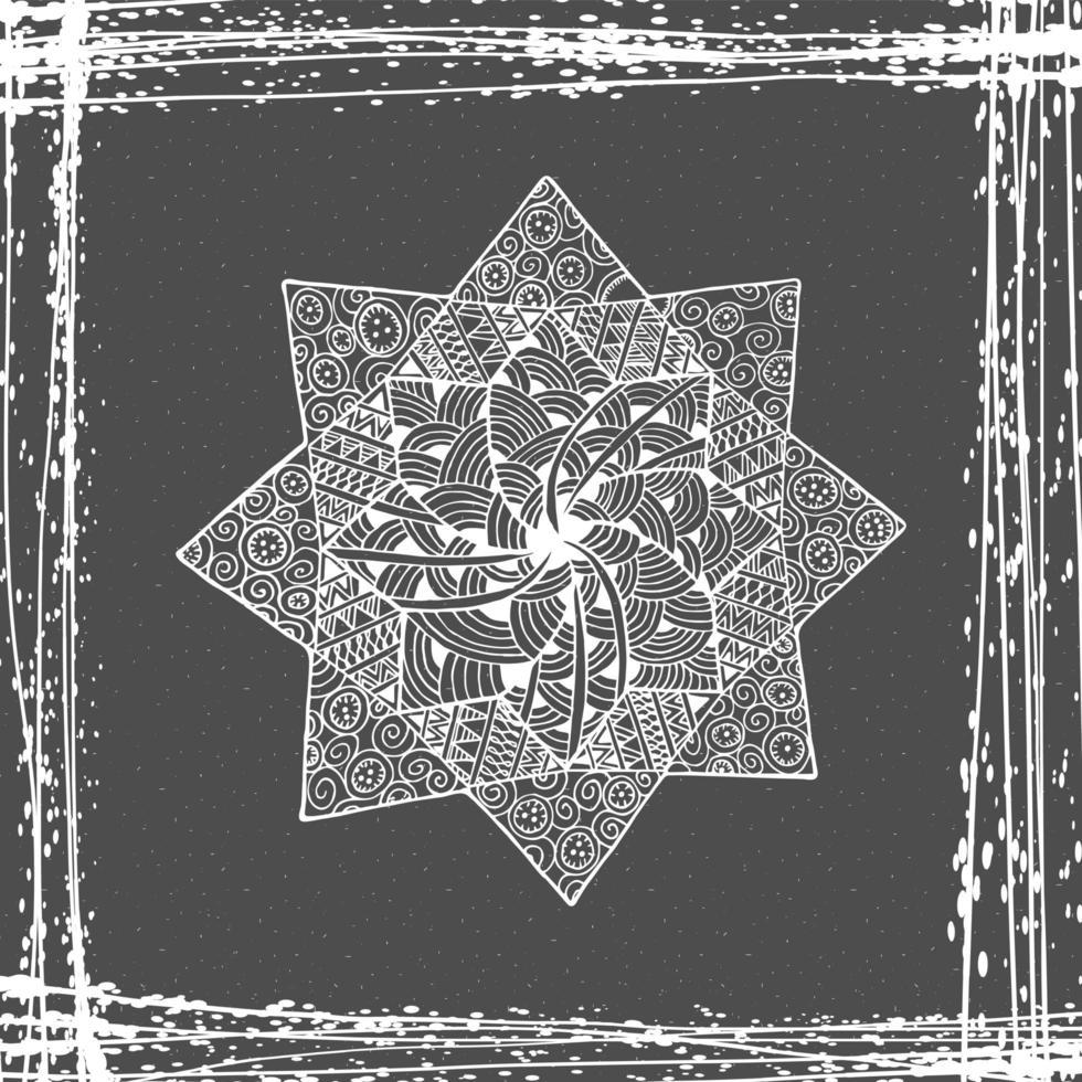 ícone de mandala de flor. vetor